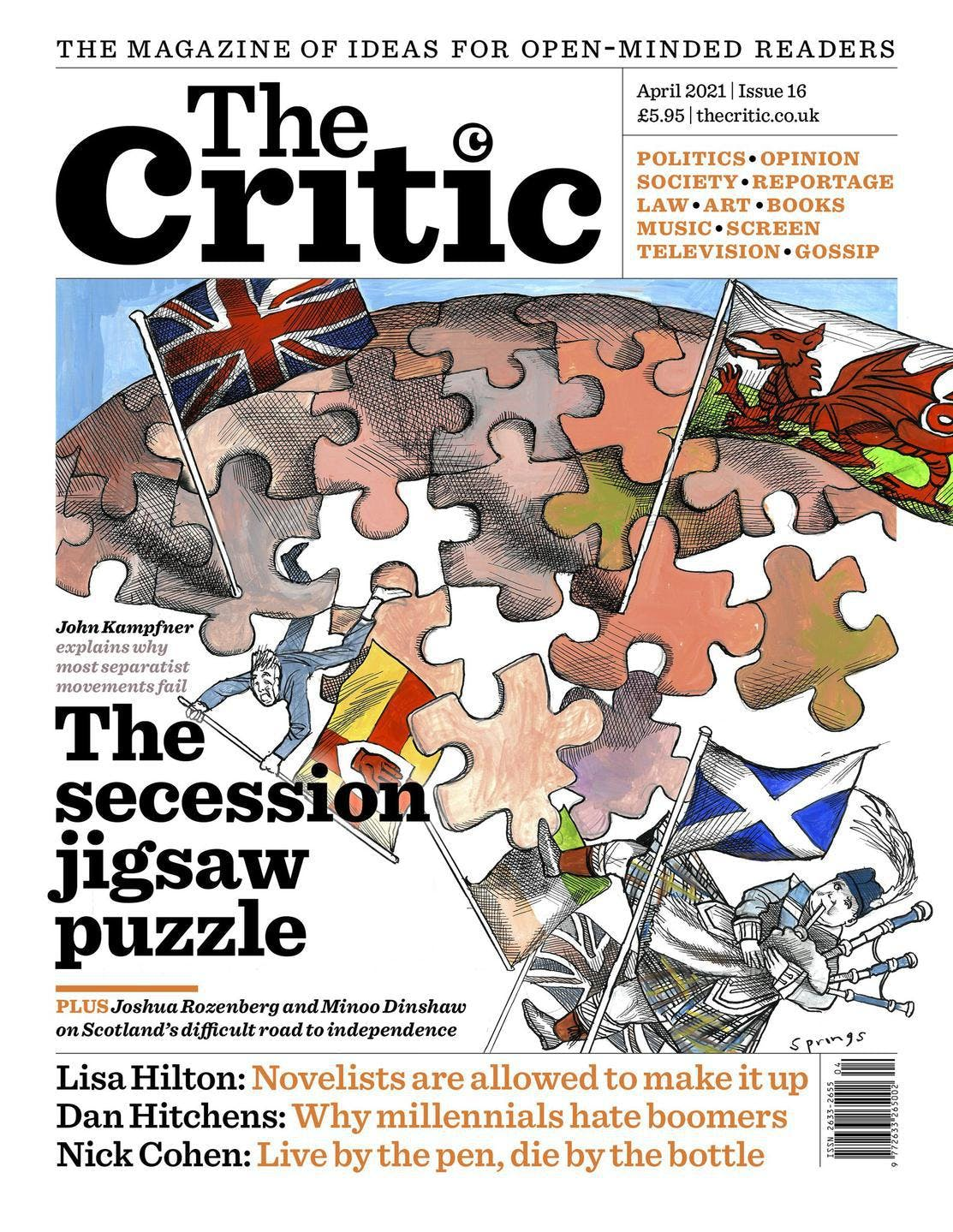 Critic magazine cover