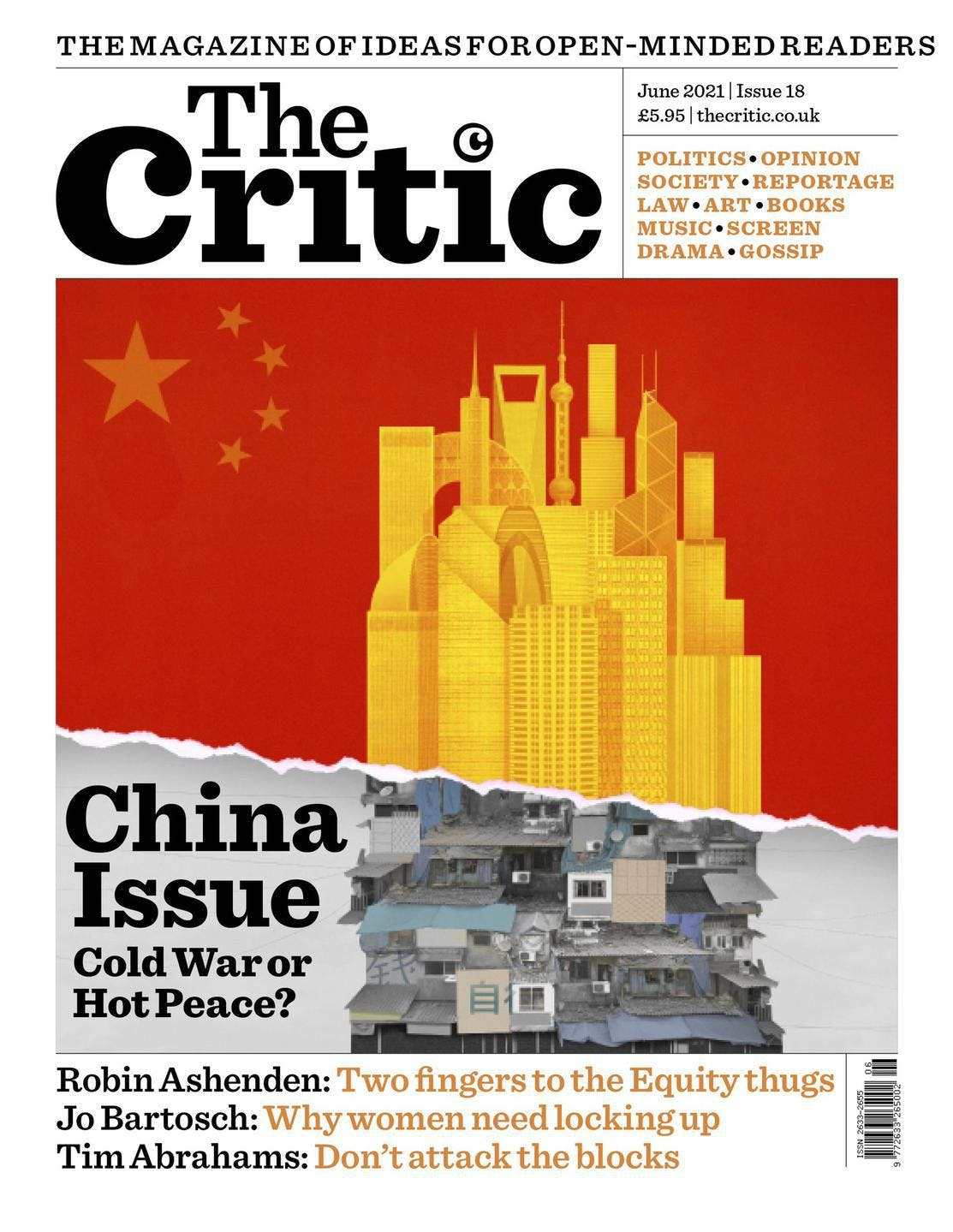 Critic magazine cover